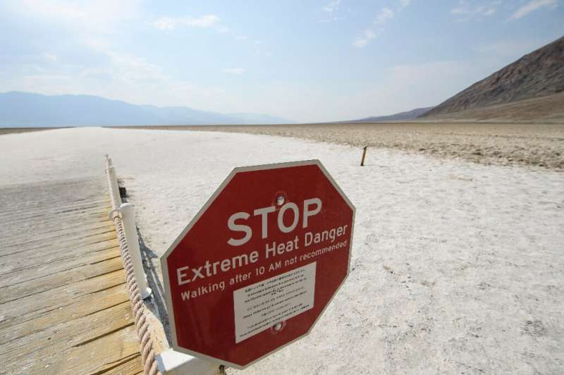 Death Valley, California—often the nation's hottest spot—was headed for a high of 126 degrees Fahrenheit