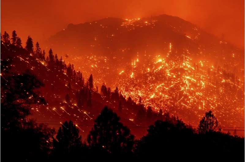 Devastating wildfires advancing through Northern California