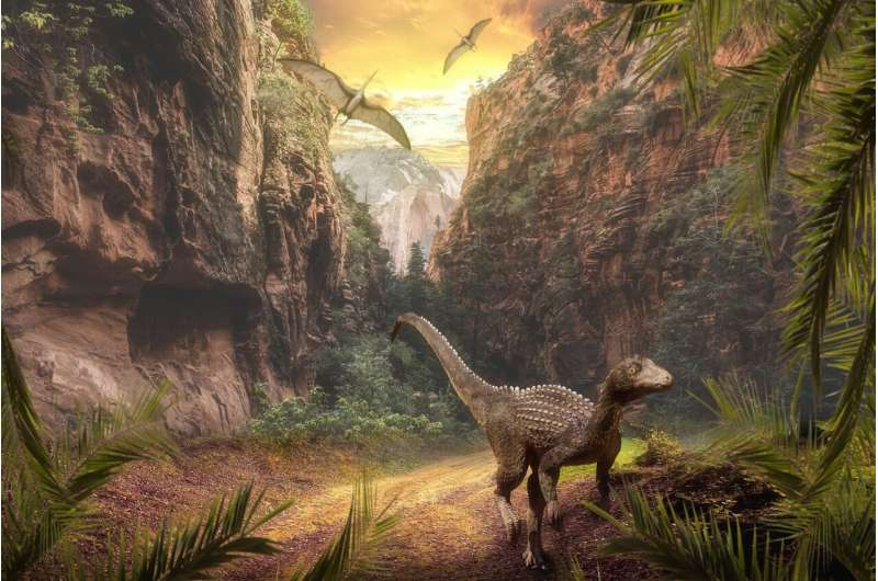 Dinosaurs' ascent driven by volcanoes powering climate change