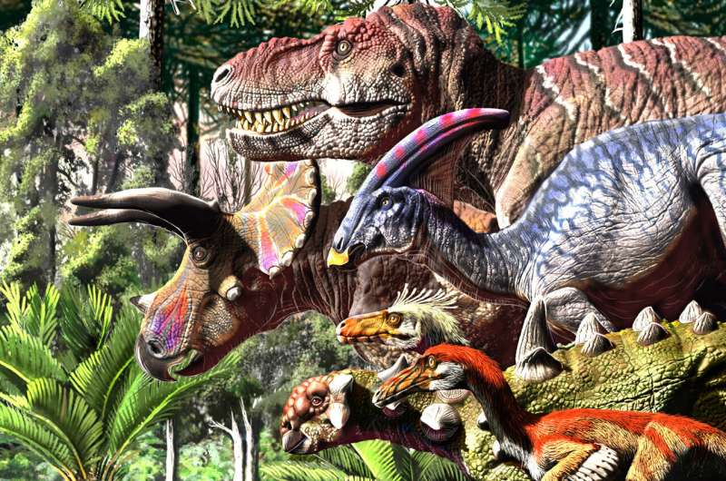 Dinosaurs were in decline before the end, according to new study