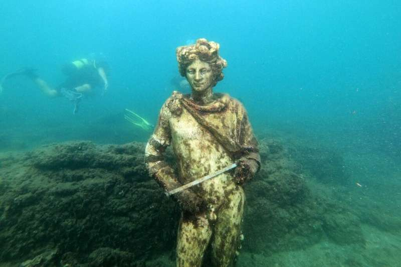 Divers can explore the underwater ruins of the ancient Roman party town of Baiae