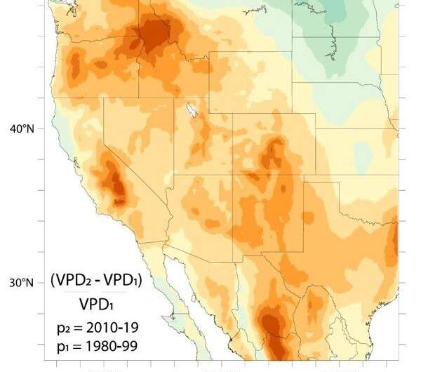 Dryer, warmer night air is making some Western wildfires more active at night