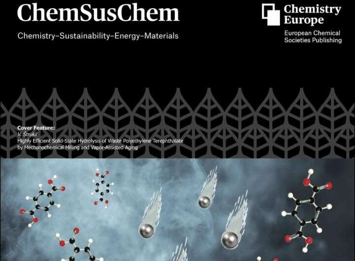 Efficient solid-state depolymerization of waste PET