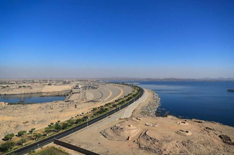 Egypt's Aswan High Dam and Lake Nasser: the building of the dam was spearheaded in the early 1950s by charismatic pan-Arabist pr
