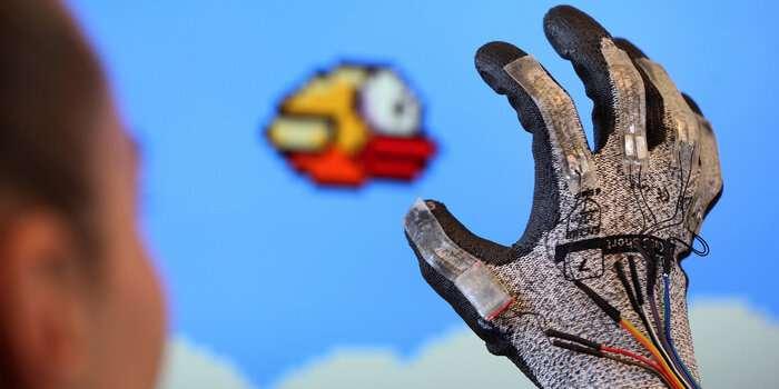 Electronic glove and gaming make rehabilitation fun