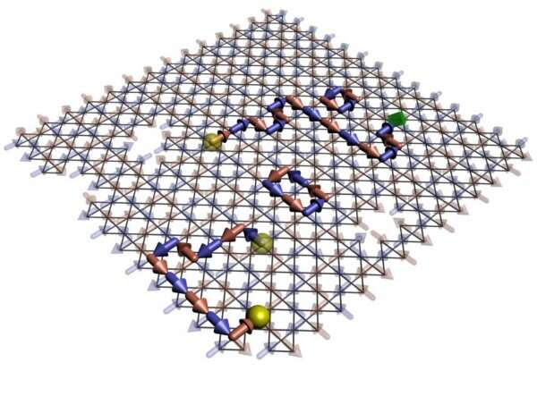 Emergent magnetic monopoles isolated using quantum-annealing computer