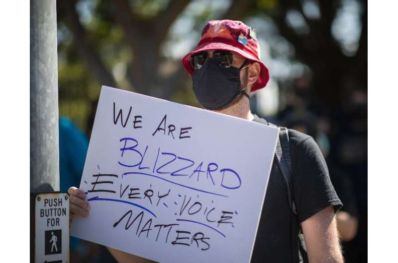 Employees of the video game company, Activision Blizzard, walked off the job in protest and those working remotely were asked to