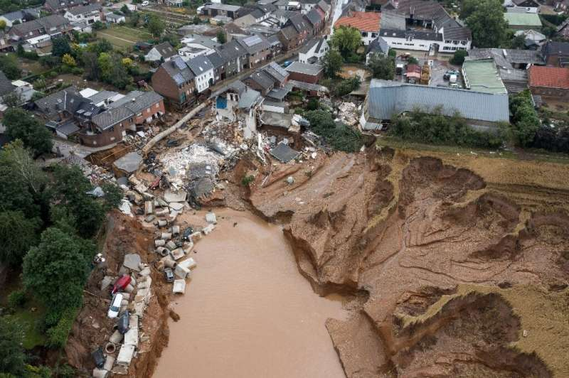 Erftstadt in western Germany suffered huge damage