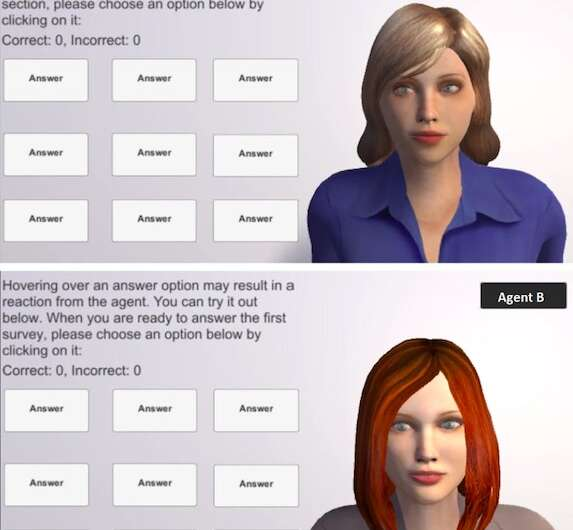 Examining how humans develop trust towards embodied virtual agents