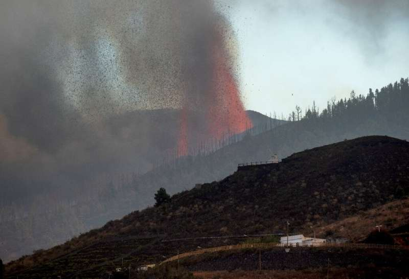 Experts believe the lava is likely to move southwest towards inhabited and wooded areas, before reaching the coast