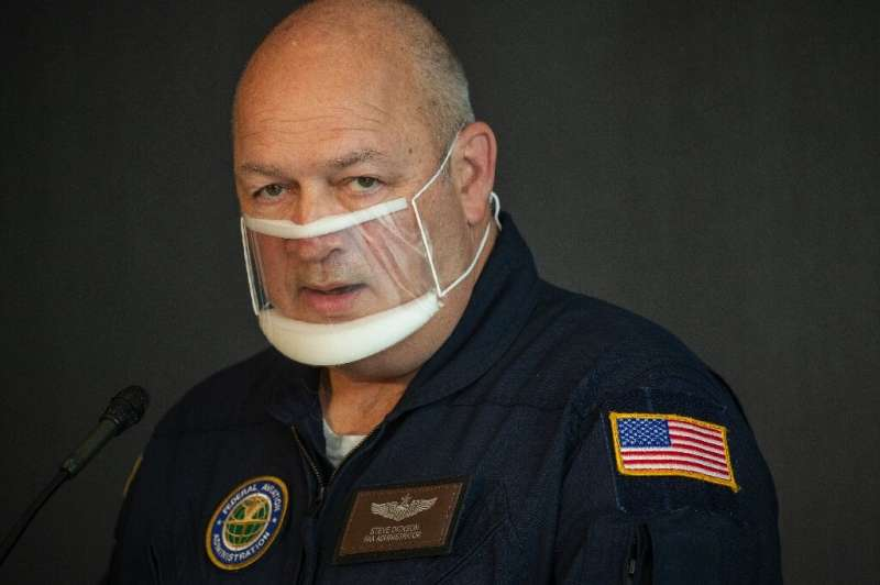 FAA head Steve Dickson, pictured in September 2020, says the agency is moving as quickly as possible to address problems with th