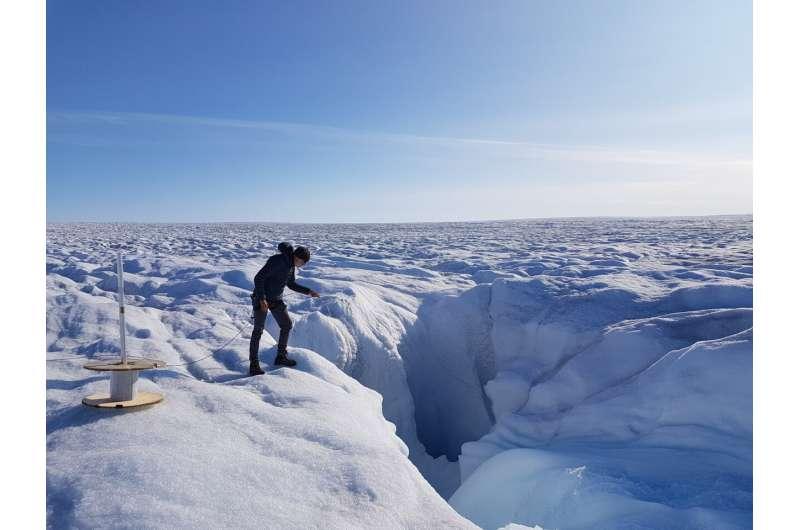 Le fibre ottiche vengono utilizzate per misurare la temperatura della calotta glaciale della Groenlandia