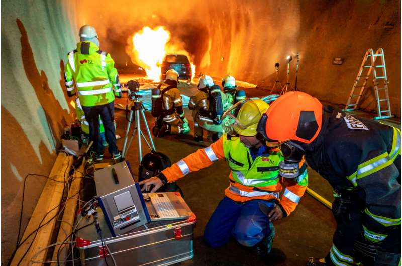 Fire tests show that Austria's tunnels are fit for electric cars