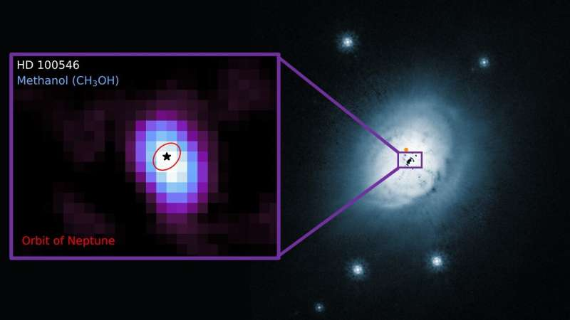 First discovery of methanol in a warm planet-forming disk
