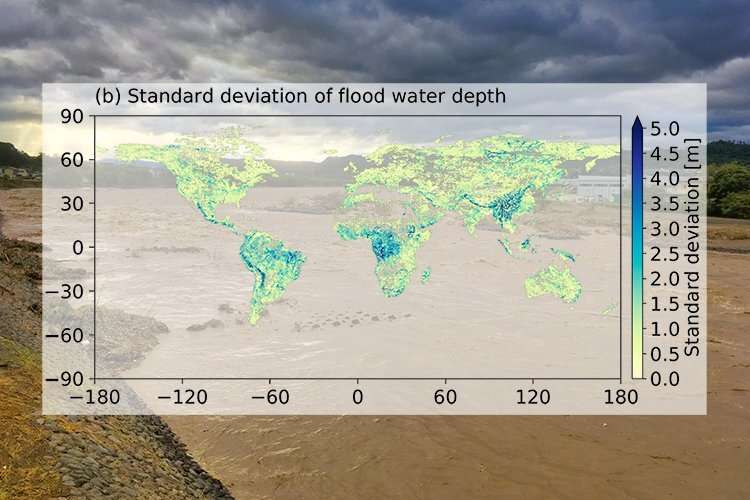 Flood risk uncertainties assessed at the global scale