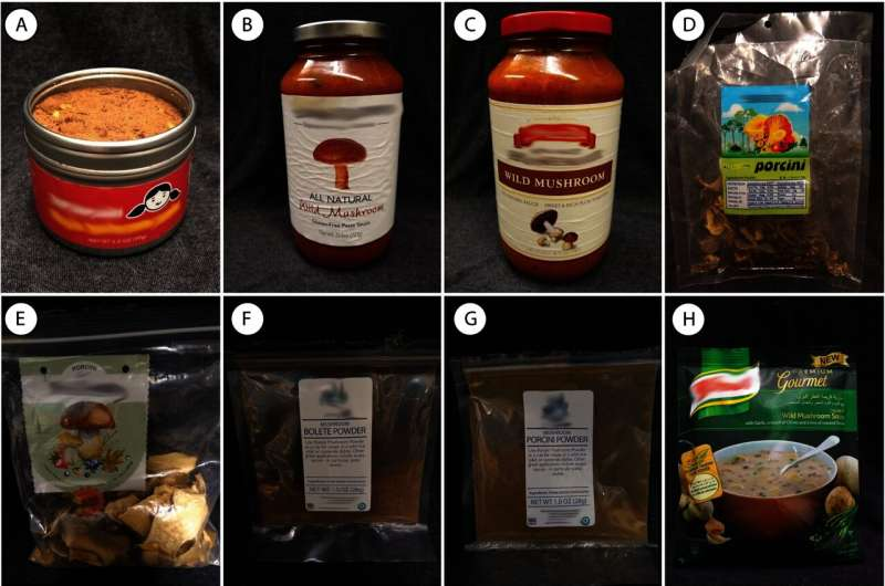 Food claiming to have 'wild mushrooms' rarely do