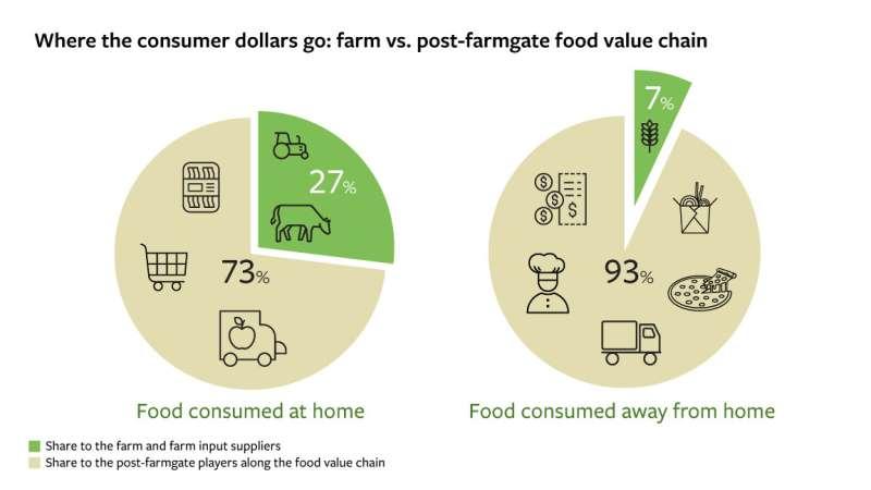 De la granja al plato: ¿A dónde fluyen los dólares de los consumidores globales?