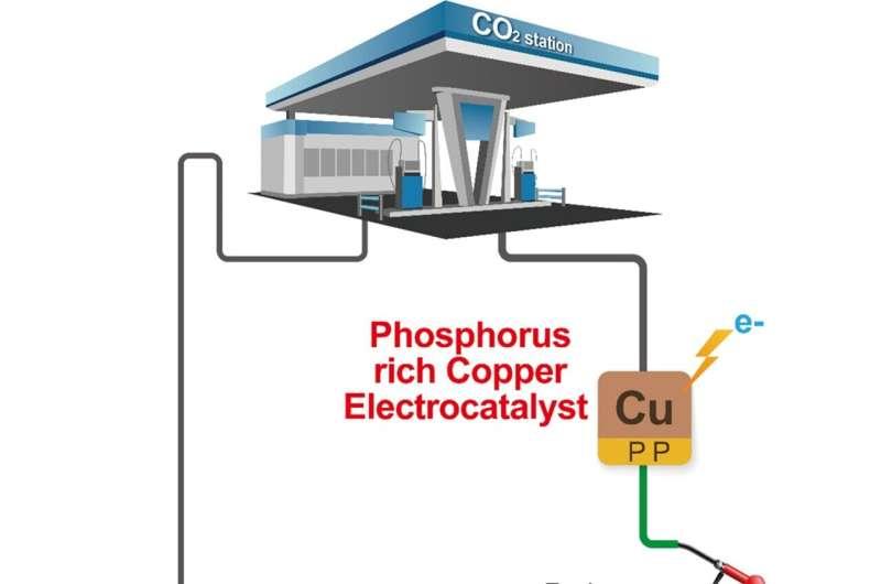 من نفايات إلى ثروة: تحويل ثاني أكسيد الكربون إلى بيوتانول باستخدام كاثودات النحاس الغنية بالفوسفور