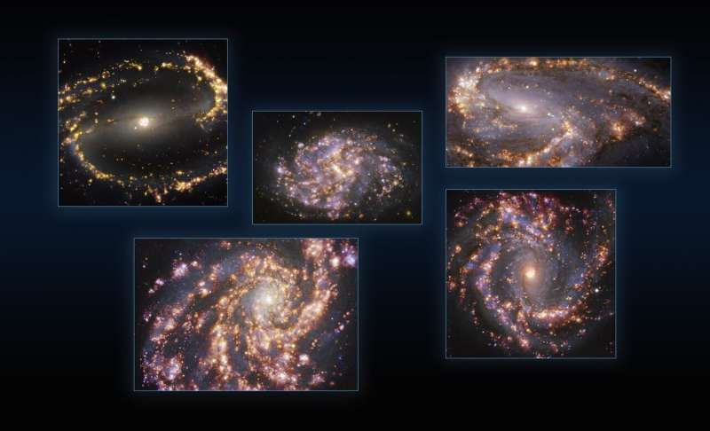 Galactic fireworks: New ESO images reveal stunning features of nearby galaxies