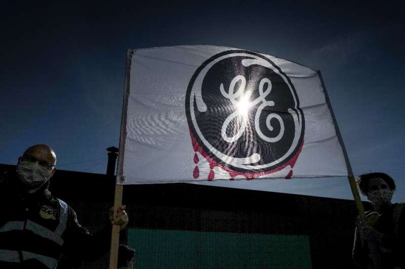 General Electric reported lower revenues in three of four industrial divisions