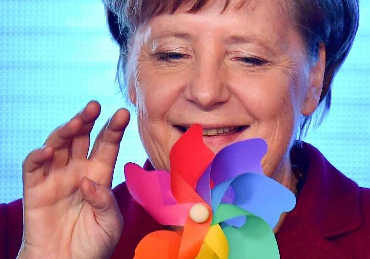 """German Chancellor Angela Merkel said that """"young people have reminded us that we are going too slowly rather than too quick"""