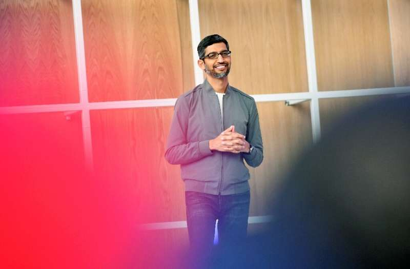 Google CEO Sundar Pichai is seen at the Google I/O 2019, the company's developer conference which is being held remotely this we