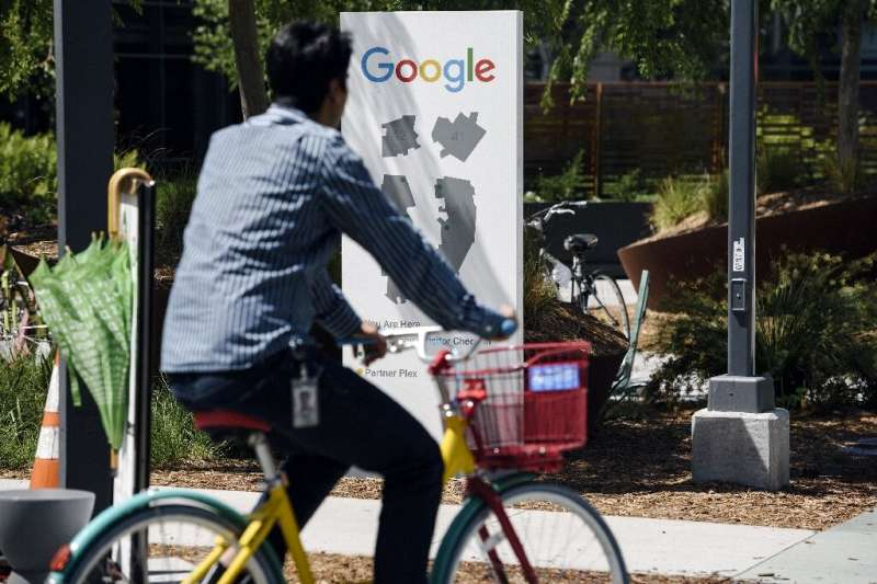 Google workers held a sit-in to protest sexual harassment at the company, on May 1, 2019 at the tech giant's headquarters in Sil