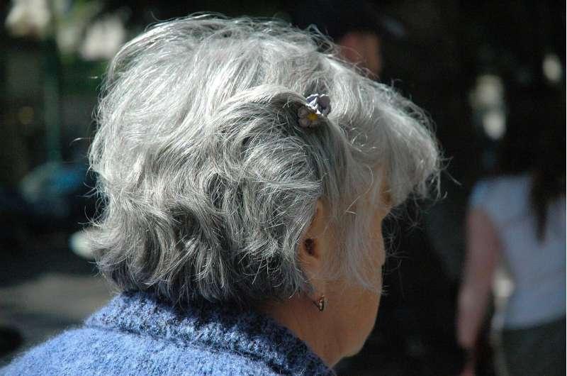 gray hair woman