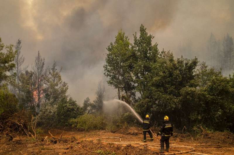 Greek firefighters have been bolstered by overseas reinforcements