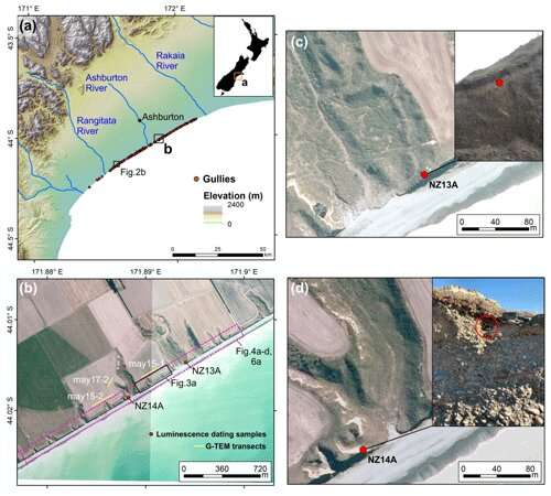 Groundwater drives rapid erosion of the Canterbury coastline, New Zealand