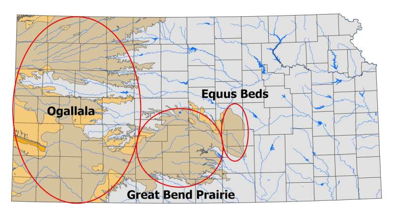 Groundwater levels fall in central and western Kansas