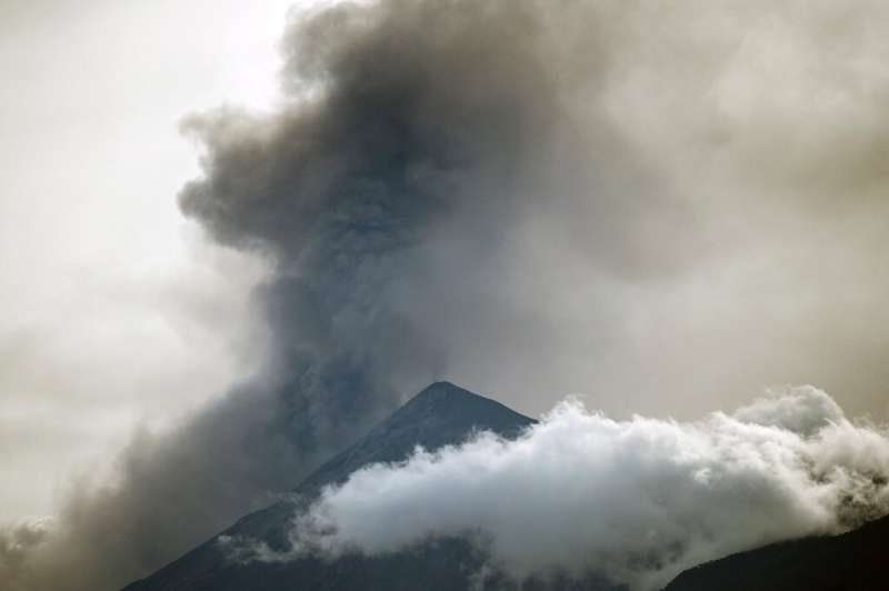 Guatemala's Fuego volcano wrapped up a 32-hour phase of strong eruption, seen in this Septempber 23, 2021 image from Alotenango