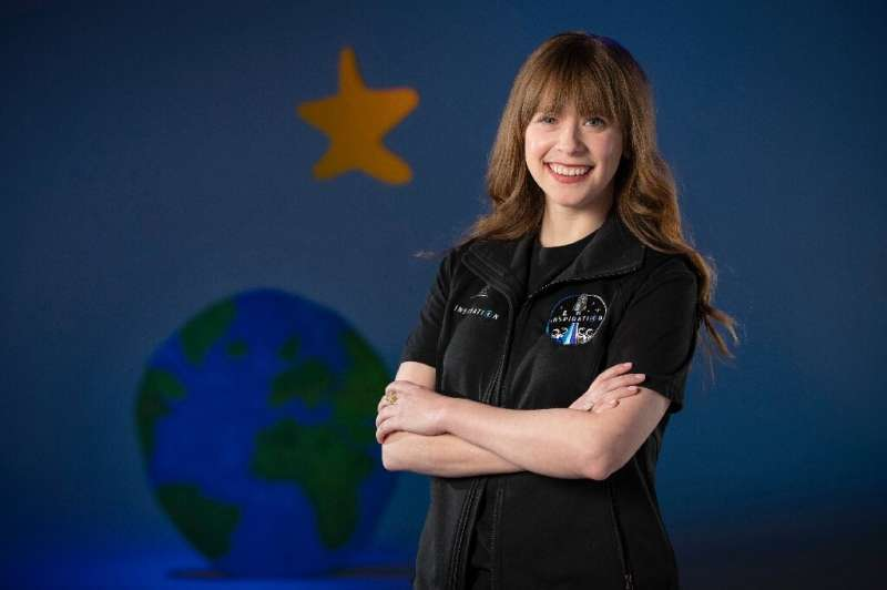 Hayley Arceneaux at a visit to SpaceX in California: the cancer survivor will be the youngest American in space