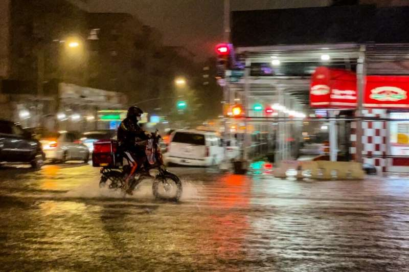 Heavy rains brought chaos to New York City