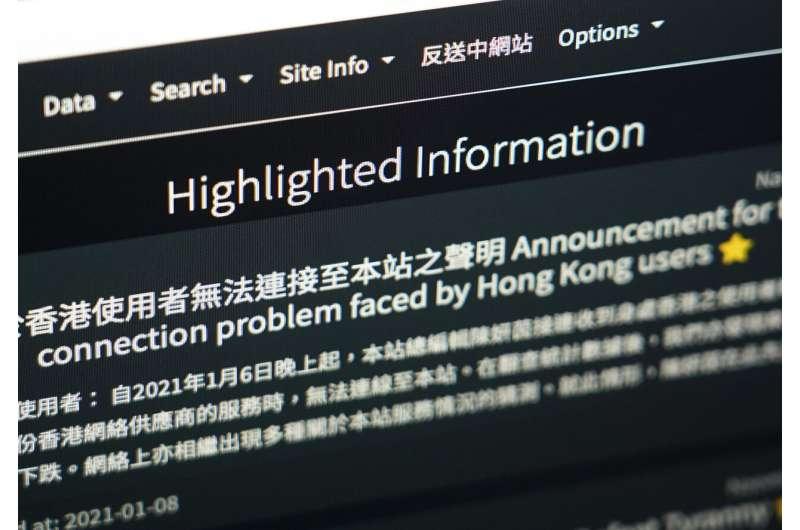 Perusahaan internet Hong Kong memblokir situs web karena undang-undang keamanan