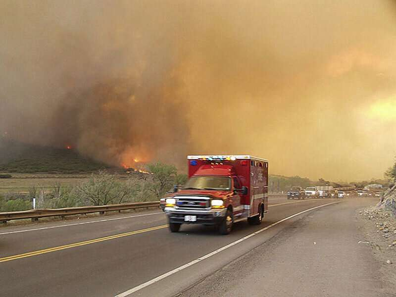 How hospitals respond to wildfires