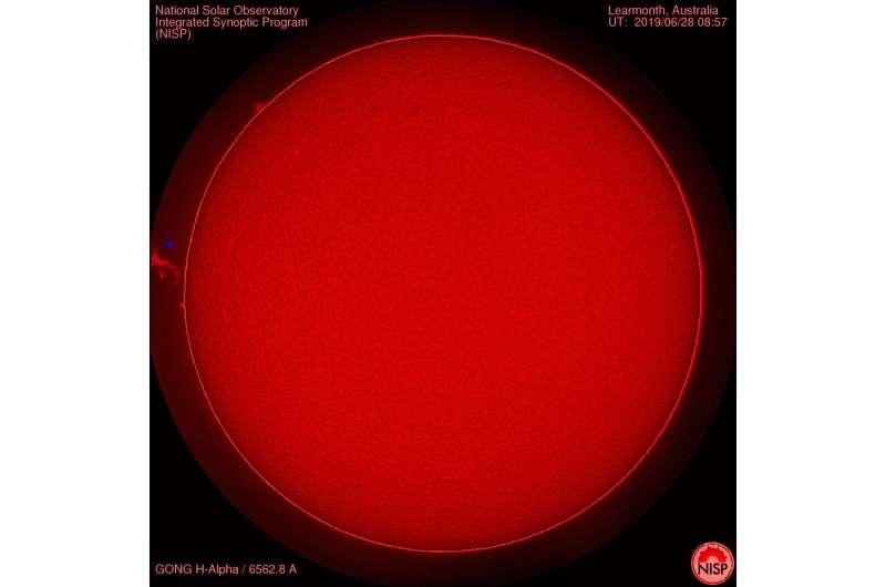 How the Sun's magnetic forces arrange gas particles