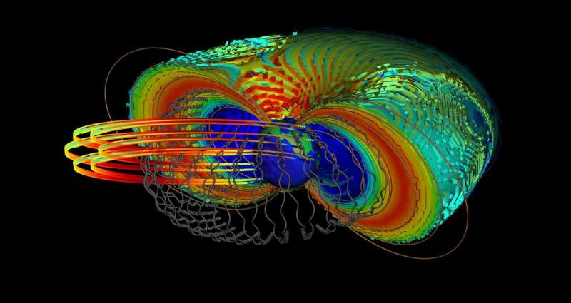 How do electrons close to Earth reach almost the speed of light?