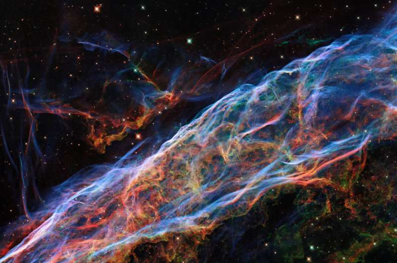 Hubble visits the veil nebula again