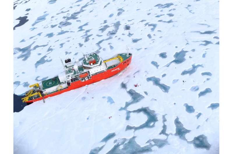 Icebreaker's cyclone encounter reveals faster sea ice decline
