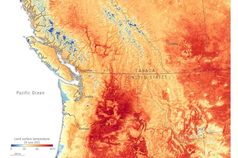 Image: Canada-U.S. heatwave