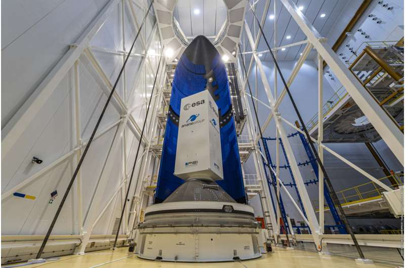 Image: First Ariane 6 fairing at Europe's Spaceport in French Guiana
