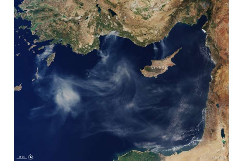 Image: Smoke billows from fires in Turkey