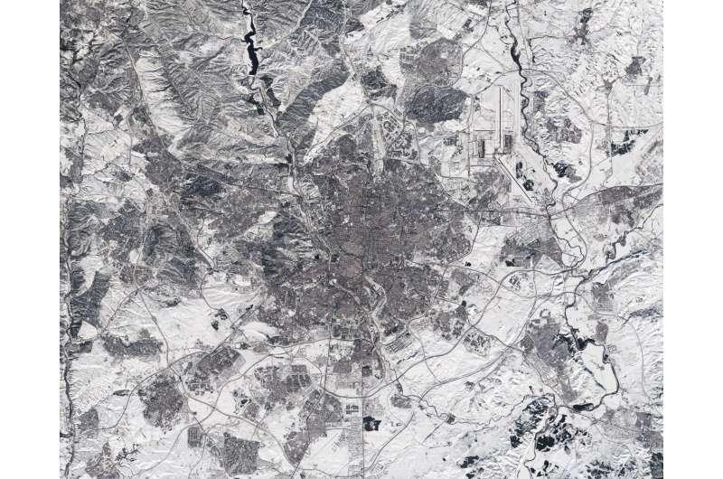 Image: Madrid snowbound