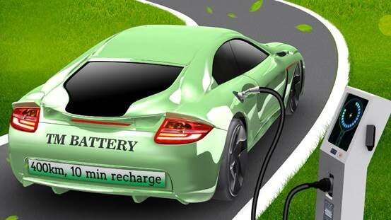 Inexpensive battery charges rapidly for electric vehicles, reduces range anxiety