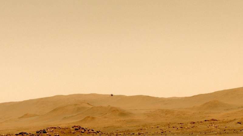 Ingenuity Mars helicopter completes first one-way trip