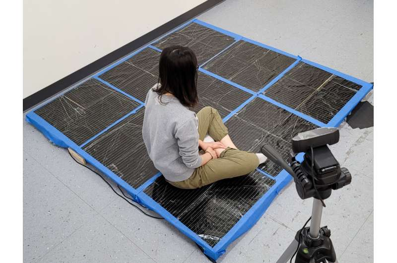 Intelligent carpet gives insight into human poses