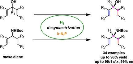 Iridium-catalyzed hydrogen addition, giving plant- and insect-based natural substances