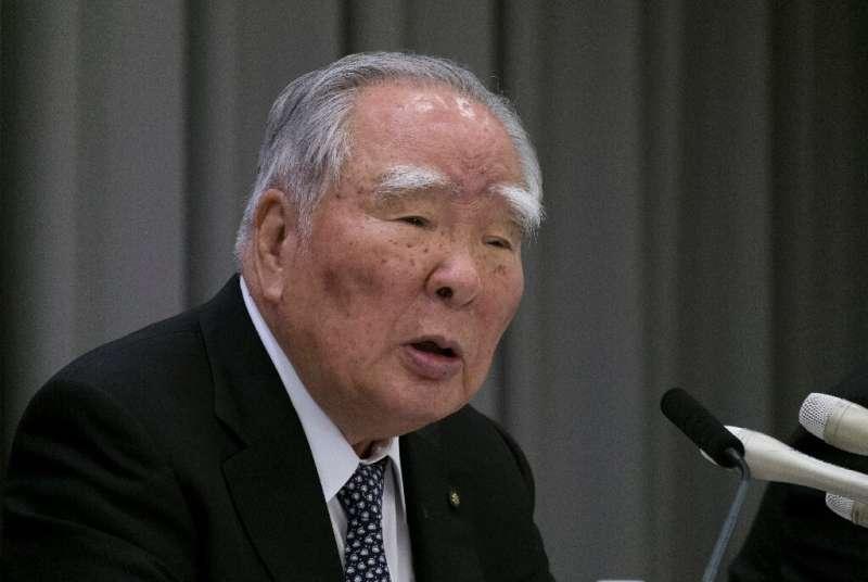 Japan's automaker Suzuki chairman Osamu Suzuki, pictured here in 2017, is stepping down