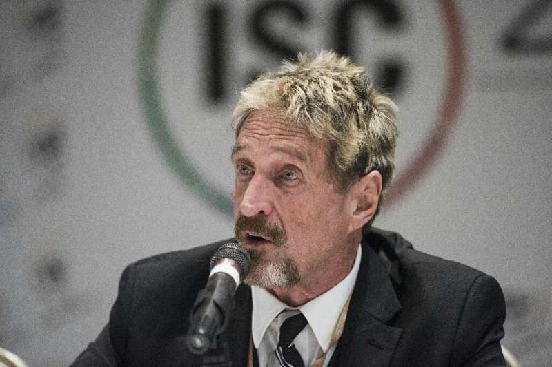John McAfee was accused of failing to pay tax on 10 million euros of earnings